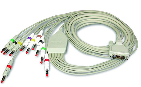 Schiller 10-Wire Patient Cable IEC 2m, Banana Plug Type 2.400070
