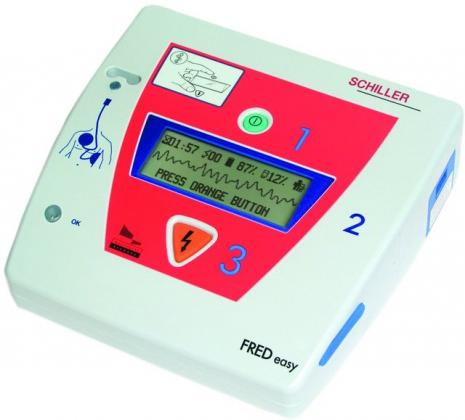 Schiller FRED Easy Semi-Automatic Defibrillator with ECG on-screen & Manual Override