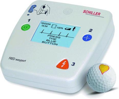 Schiller Fred Easyport Defibrillator with ECG on-screen