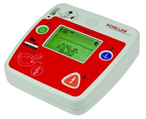 Schiller FRED Easyport Defibrillator with ECG on-screen & Manual Override