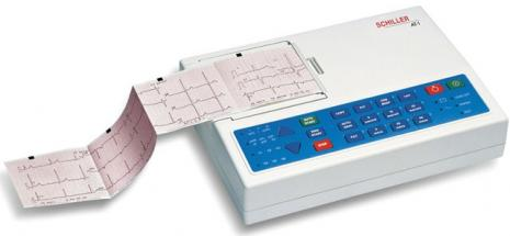 Schiller CARDIOVIT AT-1 Interpretive ECG Machine with Suction Electrodes