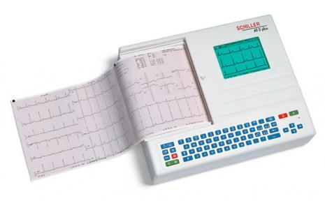 Schiller CARDIOVIT AT-2plus Interpretive ECG Machine with Suction Electrodes