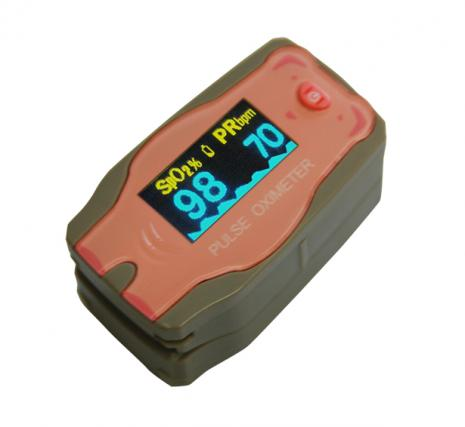 Fingertip Pulse Oximeter Paediatric - Pink Pig