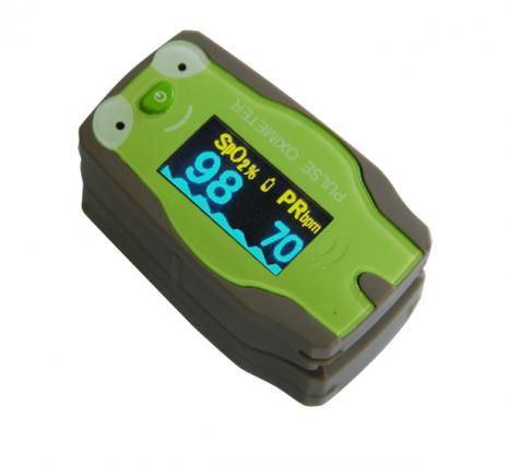 Fingertip Pulse Oximeter Paediatric - Green Frog