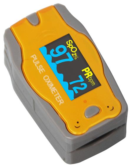 Fingertip Pulse Oximeter Paediatric - Yellow Bear
