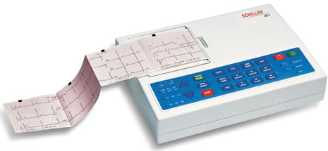 Schiller CARDIOVIT AT-1 Interpretive ECG Machine with Disposable Electrodes
