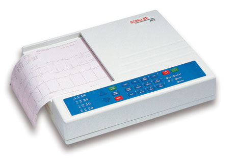 Schiller CARDIOVIT AT-2 Interpretive ECG Machine with Disposable Electrodes