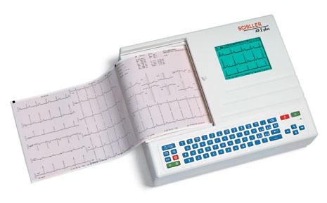 Schiller CARDIOVIT AT-2plus Interpretive ECG Machine with Disposable Electrodes