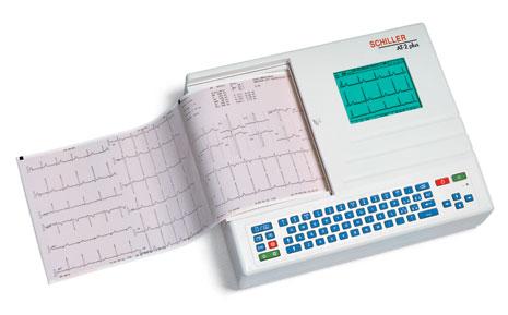 Schiller CARDIOVIT AT-2plus Interpretive ECG Machine with Disposable Electrodes