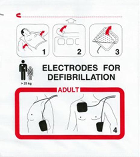 Schiller Fred Defibrillation Electrode Adult