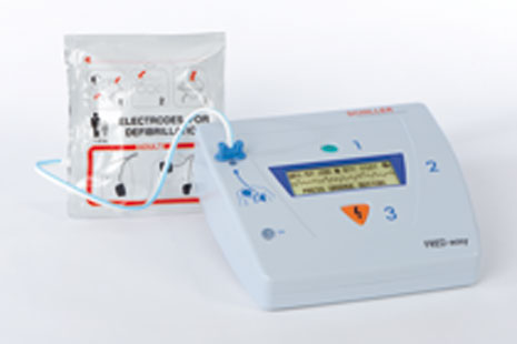 Schiller FRED Easy Semi-Automatic Defibrillator with ECG on-screen